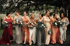 Vintage Sunset Orange Wedding Color Ideas for 2019 sunset orange and gray mix and match fall bridesmaid dresses Burnt Orange Bridesmaid Dresses, Mismatched Bridesmaid Dresses, Wedding Bridesmaid Dresses, Wedding Gowns, 70s Wedding Dress, October Wedding Dresses, Bridesmaid Color, Bohemian Bridesmaid, Wedding Venues