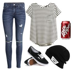 """""""Untitled #244"""" by abigailduff ❤ liked on Polyvore featuring H&M and Vans"""