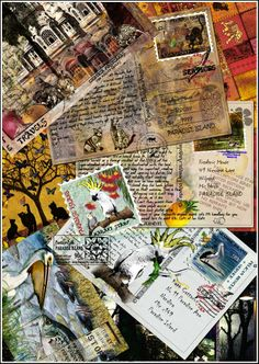 Image detail for -papagodesign art postcard collage enjoy a collage of exotic postcards ...