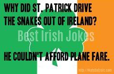 Best Short Jokes, Irish Jokes, Irish Recipes, Funny Laugh, Cute Shorts, St Patricks Day, Funny Stuff, Humor, Quotes