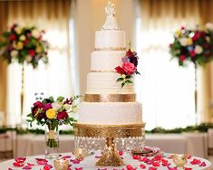 Wedding cake at a beautiful wedding reception at Black Iris Estate in Carmel Indiana
