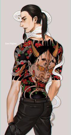 second fils tatoo Bodysuit Tattoos, Girl Tattoos, Tattoos For Guys, Hannya Tattoo, Irezumi Tattoos, Character Inspiration, Character Design, Character Art, Yakuza Tattoo Meanings