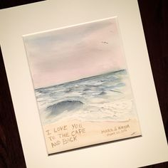 Arches Watercolor Paper, Beach Watercolor, Watercolor Paintings, Original Paintings, Pastel Artwork, Creative Artwork, Etsy Shop, Wedding, Creative Art