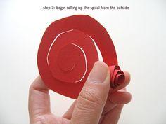 Paper flower tutorial: step 3