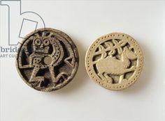 Board game pieces (bone), 11th century