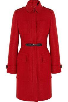 Burberry London Buckle-detailed wool coat | NET-A-PORTER