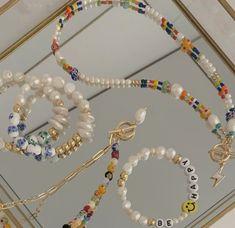 Seed Bead Necklace, Seed Bead Bracelets, Diy Necklace, Necklace Designs, Pearl Bracelet, Seed Beads, Pearl Necklace, Bead Jewellery, Beaded Jewelry