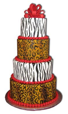 zebra and leopard print cake Brookies Cookies, Cake Cookies, Cupcakes, Jungle Cake, Jungle Theme, Africa Cake, Cool Cake Designs, Specialty Cakes, African Safari