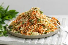 Cabbage salad gets an Asian-style twist in this quick and easy recipe.