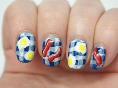 Quirky #nails : eggs & bacon #nailart