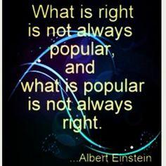 Albert Einstein  doing what is right
