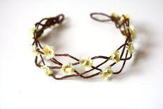floral hair wreath // woodland collection - kristen. $49.00, via Etsy.