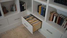 File drawer in lower built-in