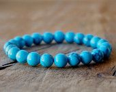 8mm Blue Howlite Bracelet Gemstone Bracelet Hipster Bracelet Womens Mens Bracelet Bead Bracelet Semi Precious Stone Bracelet Gifts Unique