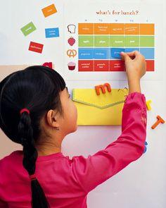 magnetic food chart