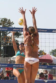 Beach Volleyball Block