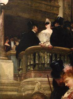 """""""O Baile de Ópera"""", de Henri Gervex  (Francês, 1852-1929)"""