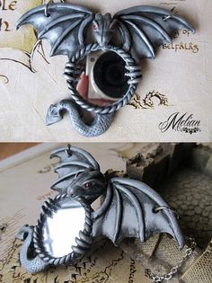 Dragon mirror necklace by Melian-art.deviantart.com on @DeviantArt