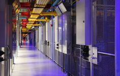 Inside the cages of an Equinix  data center in Ashburn, Virginia. Equinix provides colocation and interconnection services.