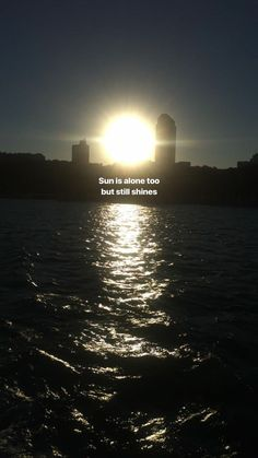 Sun is alone too but still shines so there is no reason why I can't shine too. Sky Quotes, Tumblr Quotes, Mood Quotes, Sunset Quotes, Creative Instagram Stories, Instagram Story Ideas, Instagram Quotes, Mood Wallpaper, Wallpaper Quotes
