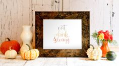 'Eat, Drink, and Be Cozy'  Because there is no better season than Fall, where you get to snuggle under blankets, drink hot chocolate, and eat delicious comfort foods all the time. Fall is our favorite season! Perfect print to get your home ready for the loveliest time of year!   You will receive the digital file after your payment has been processed, then save the file to your computer and print it out! No need to wait for shipping times!   **NOTE: No physical print will be mailed**  The…