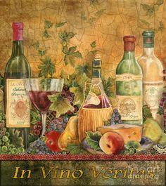 Оригинальная Живопись - Тосканской ин вино Веритас Жан Plout