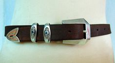 Handmade Silver Belt. Brown Sterling Silver. Vintage