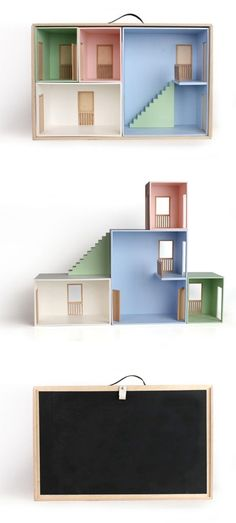 New dollhouse every time you play. Awesome! Love that design  http://www.haseweiss.de