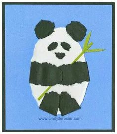 Torn paper project- China- Pandas
