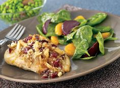 Cranberry Almond Chicken With Beet Spinach Salad Recipe from #PublixAprons