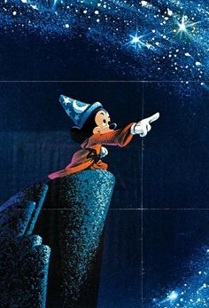 The Sorcerers Apprentice . Walt Disneys Mickey Mouse in Fantasia Walt Disney, Disney Magic, Disney Pixar, Disney Mickey, Disney Movie Posters, Disney Cartoons, Disney Movies, Dreamworks Movies, Fantasia Disney
