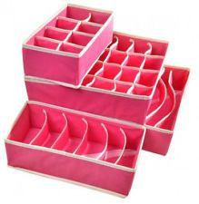 Drawer Dividers Closet Organizers Bra Underwear Storage Boxes (Set Of 4)
