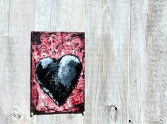 Mixed Media Original My Darkened Heart Number 5 by MagpiesandMimsy, $47.00