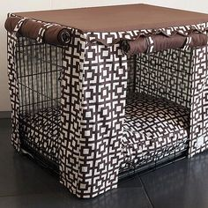 Lattice Dog Bed with Dog Crate Cover - Find it at FelixChien.com!