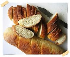 Almost No Knead Baguette