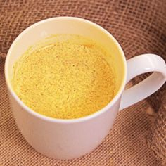 Golden Milk: Healthful, delicious and beautiful – what's not to like about Golden Milk? Try it today!   Heat 2 cups light unsweetened coconut milk (or almond or soymilk) with 1 tablespoon peeled, grated fresh ginger and 1 tablespoon peeled, grated fresh turmeric and 3-4 black peppercorns. Bring to a simmer and simmer covered for 10 minutes. Strain and sweeten to taste (if desired).