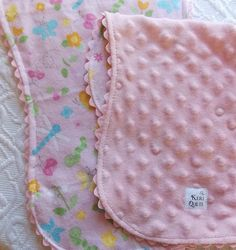 Sweet Baby Girl Burp Cloth Set by KeriQuilts on Etsy, $20.00