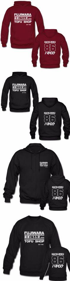 Laukexin Mens Hoodies Takumi Fujiwara Tofu Shop Delivery AE86 Initial D Manga Zipper Hoodie Sweatshirt  Many Style Hoody