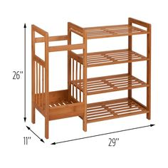 Dotted Line Bamboo Entryway 8 Pair Shoe Rack 8 Pair Shoe Rack, Diy Shoe Rack, Shoe Storage, Shoe Racks, Wood Shoe Rack, Shoe Rack Wayfair, Diy Furniture, Furniture Design, Diy Home Decor