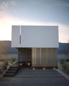Vista Principal  Casas minimalistas de 21arquitectos