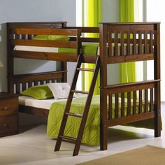 Pivot Direct PD_12 Donco Kid's Mission Bunk Bed with Tilt Ladder at ATG Stores