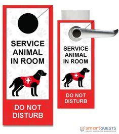 Service Animal Door Hangers