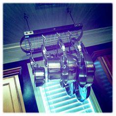 hanging pot rack.