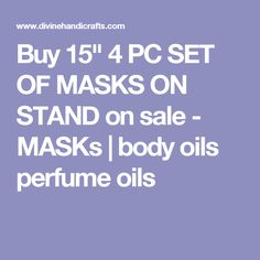 "Buy 15"" 4 PC SET OF MASKS ON STAND on sale - MASKs 