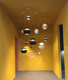 Here Comes the Sun lamps edited by DCW éditions, at Stockholm Furniture & Light Fair February 2016 Lighting Showroom, Lighting Store, Interior Lighting, Lighting Design, Lighting Ideas, Interior Design Shows, Showroom Interior Design, Commercial Interior Design, Sun Lamp