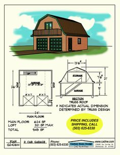 G2426H Garage Plan details