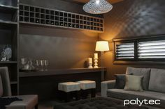 Polytec wine rack and storage unit, a great adults retreat. Kerala Mural Painting, Kitchen Photos, Panel Doors, Storage Solutions, Future House, Wine Rack, Blinds, Building A House, Photo Galleries