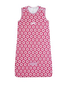 BabyKids Sleeveless Cotton Padded Sleeping Bag with Circle Print in Pink #soft #cotton #newborn #baby #comfort #girl #babykids #sleepingbag #TOGrated