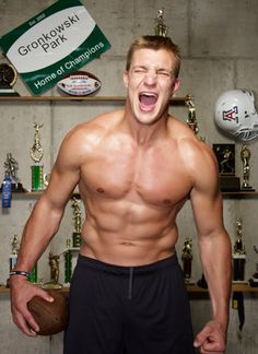 I'm sorry guys. I just can't help myself.  He's so adorably goofy and incredibly buff.  Rob Gronkowski