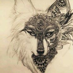 Imagine wolf, tattoo, and drawing